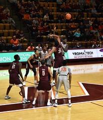 JUMP BALL (SneakinDeacon) Tags: vt vatech hokies virginiatech cassellcoliseum basketball hawks marylandeasternshore