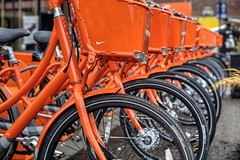 BIKETOWN (Ian Sane) Tags: ian sane images biketown bike share program bicycles red downtown portland oregon canon eos 5d mark ii two camera ef70200mm f28l is usm lens