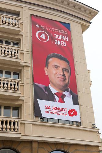 Zoran Zaev Election Banner - Skopje