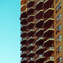 New York Architecture #317 (Ximo Michavila) Tags: newyork ximomichavila nyc usa building architecture archdaily archiref archidose windows city urban abstract day clear sky balconies