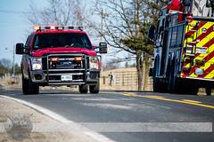 London Fire - C2, Sunningdale Rd. E. Brush Fire, 03/19/2016 (Front Page Photography / Hooks & Halligans) Tags: london ontario canada fire dept department londonfire brushfire brush firefighting firetrucks firetruck trucks truck c2 car2 chief2 car chief 2
