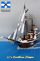 6274 - Caribbean Clipper 2017 MOC (kr1minal) Tags: lego galeone ship imperial guard caribbean clipper 6274 set bricks moc diorama