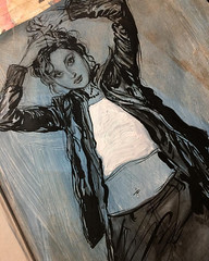 Part of the Collector's Edition drawing on the first page... (Dorian Vallejo) Tags: art fine drawing figure mixed media drawings oil painting dorian vallejo
