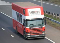 RX04FLA - White & Company (TT TRUCK PHOTOS) Tags: m5 strensham tt scania whites removals