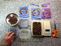 Chocolate nuts & raisins 243-365 (10) (♔ Georgie R) Tags: chocolatenutsraisins scales scissors weighing