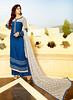 Blue Tussar Silk Straight Cut Salwar Kameez (nikvikonline) Tags: salwarkameez tussar tussarsilk silkkameez silk kamiz kamizonline red pink achkanstyle nikvikcom nikvik pakistanikameez womenfashion womenclothing weddingdress women wedding womenswear wear