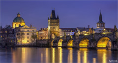 Charles Bridge in Blue, Czech Republic (AdelheidS photography) Tags: adelheidsphotography adelheidsmitt adelheidspictures cityscape city canoneos6d canonf4l2470mm czechrepublic czech prague praag praha tsjechië charlesbridge bridge vltava moldau bluehour blue blauweuurtje blauwuurtje heurebleu river evening citylights cityview capitalcity architecture outdoor building buildings