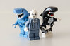 Try swimming with the Sharks.. (Mr_Red_2001) Tags: lego dc greatwhiteshark kingshark orca batman