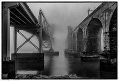 Runcorn Bridge in the Mist (1 of 1) (andyyoung37) Tags: railwaybridge runcornbridge uk widnes cheshire fog rivermersey