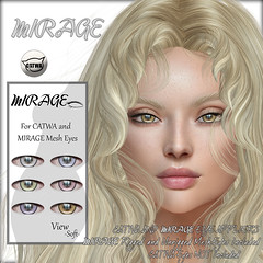 Mesh Eye Appliers-View *Soft* (MirageSL) Tags: second life sl mirage catwa mesh eyes appliers hud