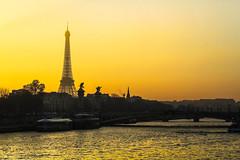 INSPIRE (Rober1000x) Tags: sunset europa europe 2016 2017 france paris francia bridge tower eiffel river sena senna
