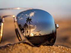 Paradise (802701) Tags: hawaii waikiki waikikibeach oahu honolulu glasses sunglasses reflection reflections palmtrees paradise