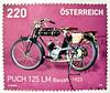great stamp Austria 220c Puch 125 LM (1923) (motorcycle, Motorrad, moto, motorcykel, 摩托车, motocicletta, オートバイ, motorno kolo, motorfiets, motorsykkel, μοτοσυκλέτα, мотоцикл, motosiklet,  मोटरसाइकिल) stamp timbre Autriche selo sello francobollo Austria post (stampolina, thx for sending stamps! :)) Tags: stamps stamp 切手 briefmarke briefmarken スタンプ postzegel zegel zegels марки टिकटों แสตมป์ znaczki 우표 frimærker frimärken frimerker 邮票 طوابع bollo francobollo francobolli bolli postes timbres sello sellos selo selos razítka γραμματόσημα bélyegek markica antspaudai маркица pulları tem perangko austria österreich autriche oostenrijk ausztria rakousko austrija mail 火车 timbru pulu motorcycle motorrad moto motorcykel 摩托车 motocicletta オートバイ motornokolo motorfiets motorsykkel μοτοσυκλέτα мотоцикл purple violett purpur technic technik puch 1923 lila