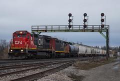 Return of the Dash 8 (Joseph Bishop) Tags: cn 2026 ge c408 paris parisjunction trains train track tracks railfan railroad railway rail rails cndundassubdivision