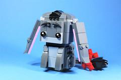 06_Eeyore (bbchai) Tags: winnie pooh tiger piglet eeyore lego brickheadz block head disney moc