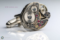30/365 Seventeen Jewels ([inFocus]) Tags: canon 100mm macro 5d 5dmkiv cufflink watch cogs contraption strobist reflection jewels 17 365 3652017 project365 macromonday