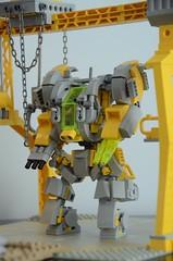 GunR-X - Docked (Wafna-204) Tags: lego legophotography moc wip mech mecha hardsuit robot afol