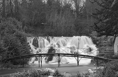 Cascades edit (168of365) (Reckless Times) Tags: cascades blenheim park water waterfall longexposure long exposure mono black white blackwhite blackandwhite bridge cool authentic oxfordshire unesco heritage site