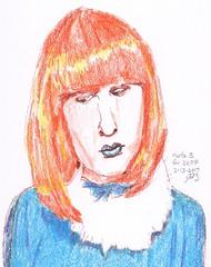 Marta B. For JKPP (jimblodget) Tags: jkpp sketch portrait juliakaysportraitparty faces people crayon pencil