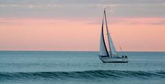 SERENO (kchocachorro) Tags: ship sea sunset landscape ocean