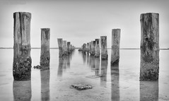 Mystic Journey on a Cold Morning (JDS Fine Art & Fashion Photography) Tags: blackandwhite ocean sea mystic mystical clouds fog moody inspirational spiritual lines