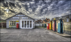 The Garage (Darwinsgift) Tags: garage petrol station pumps vintage old retro antique black country living museum dudley hdr carl zeiss 15mm distagon f28 t zf2 photomatix