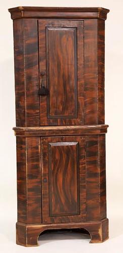 Grain Painted Modern Corner Cupboard ($476.00)