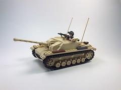 Stug III Ausf G front (mjbricks(flose master)) Tags: tank stug panzer tan lego german brickmania tracks iii 3 ausf