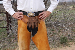COWBOY PHOTO SHOOT (AZ CHAPS) Tags: ranch arizona cowboy wranglers gloves buckle chaps