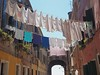 Clothesline (Mimi_K) Tags: venice italy laundry hanging clothesline pegs washing