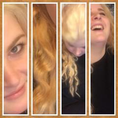 The great Dye job montage (feefoxfotos) Tags: hairdye triptych curls laugh blonde