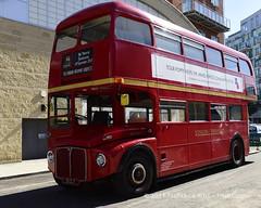 Routemaster RM1005 (© Freddie) Tags: london bermondsey se1 lbsouthwark oldjamaicaroad queens warmemorial rededicationqueensmemorial routemaster rm1005 bus 5clt londontransport doubledecker poppy fjroll ©freddie