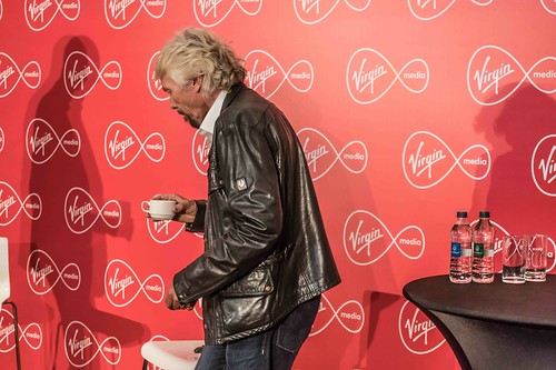 RICHARD BRANSON INTRODUCES VIRGIN MEDIA TO THE PRESS [1st. October 2015] REF-10858508