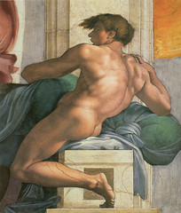 michelangelo_ceiling_sistine_chapel_ignudi_land_persian_sybil_right_1508 (Art Gallery ErgsArt) Tags: museum painting studio poster artwork gallery artgallery fineart paintings galleries virtual artists artmuseum oilpaintings pictureoftheday masterpiece artworks arthistory artexhibition oiloncanvas famousart canvaspainting galleryofart famousartists artmovement virtualgallery paintingsanddrawings bestoftheday artworkspaintings popularpainters paintingsofpaintings aboutpaintings famouspaintingartists