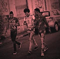 Returne to Black (mickrobi) Tags: city black walking israel telaviv pedestrians
