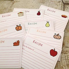 "I added our new Fall Collection Recipe Cards to the 1840 Farm Mercantile Shop yesterday.  I'm making up a few sets this morning and wondering which one of these drawings will be the most popular.  While these cards are offered as a set, we'll be making up • <a style=""font-size:0.8em;"" href=""http://www.flickr.com/photos/54958436@N05/22203119281/"" target=""_blank"">View on Flickr</a>"