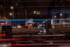 London Light Trails (Dave Lockwood DA12) Tags: longexposure london night nikon trafalgarsquare bigben nighttime lighttrails onone lightroom centrallondon d5000 perfecteffects9