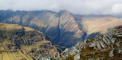 18 Rugged (daedmike) Tags: glencoe rainbow buachailleetivebeag hillwalking scotland ridge landscape mountain rocky