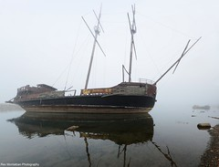 a ghost ship in niagara (Rex Montalban Photography) Tags: fog niagara stitched pirateship jordanharbour rexmontalbanphotography