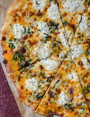 Creamy Pumpkin Pizza with Truffled Gouda and Herbed Ricotta (Pink Parsley Blog) Tags: f50 50mmf18 iso640 ¹⁄₁₀₀sec nikond7000