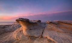 Dawn at Potter Point {Explore 89, 2015/11/23} (David Marriott - Sydney) Tags: cloud sunrise point dawn sandstone long exposure sydney potter australia newsouthwales kurnell