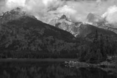 Mountain mirror B&W (NPS Aficionado) Tags: mountains reflection fall clouds blackwhite grandtetonnationalpark