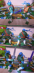 "Nickelodeon ""HISTORY OF TEENAGE MUTANT NINJA TURTLES"" FEATURING LEONARDO -  'NINJA TURTLES: THE NEXT MUTATION' LEONARDO iv / ..with Original N.M. LEO '97 (( 2015 )) (tOkKa) Tags: 2005 toys comic 1988 2006 1993 1992 leonardo figures toysrus 2012 2007 teenagemutantninjaturtles tmnt nickelodeon 2014 2015 displaystand playmatestoys ninjaturtlesthenextmutation toysrusexclusive tmntfastforward toontmnt tmntmovie4 turtlemilkstudios eastmanandlairdsteenagemutantninjaturtles moviestartmnt varnerstudios toonleo paramountteenagemutantninjaturtles 4kidstmnt paramountsteenagemutantninjaturtles tmnt2003 historyofteenagemutantninjaturtlesfeaturingleonardo davearshawsky tmnt2014movie"