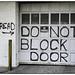Read - Do Not Block Door
