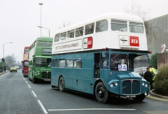 BEA1 at Brent Cross, 1991 (RTM Boy) Tags: bea 1991 routemaster brentcross 35thanniversary t550 britisheuropeanairways bea1 rcl2233 cuv233c kgj601d nuw550y
