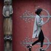 Délivrée (lilouha) Tags: lilouha rouge sculpture église porte ferrure femme art saint