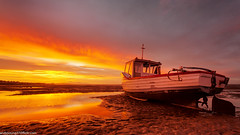 Meols Beach Sunset (7 of 14) (andyyoung37) Tags: boat meolsbeech merseyestuary beach greatsky sunset thewirral