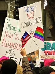 Women's March, Washington DC (bakpacker) Tags: demonstrations protests marches womensmarch washingtondc 21 jan 2017post inaugurationaction reactionantitrump rallypro choicefeminists friends