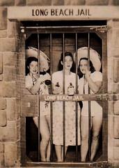 Long Beach Jail (~ Lone Wadi ~) Tags: longbeachjail ladies retro 1940s unknown jail sombrero women