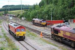 66016 - 66058 - 66021 - 66056  PEAK DALE  nr DOVE HOLES (Barrytaxi) Tags: ews dbs rail freight